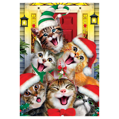 Christmas Garden Flag - Christmas Cats