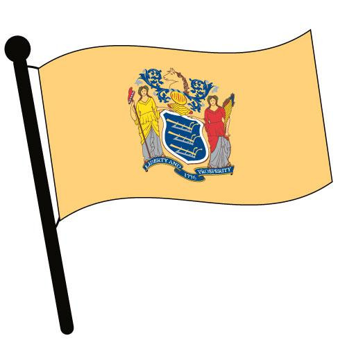 New Jersey Waving Flag Clip Art - Downloadable Image