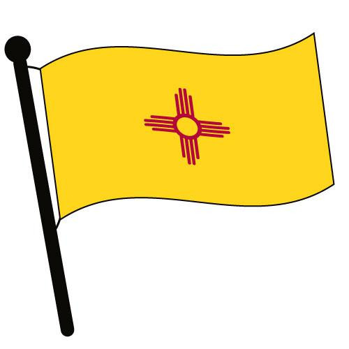 New Mexico Waving Flag Clip Art - Downloadable Image