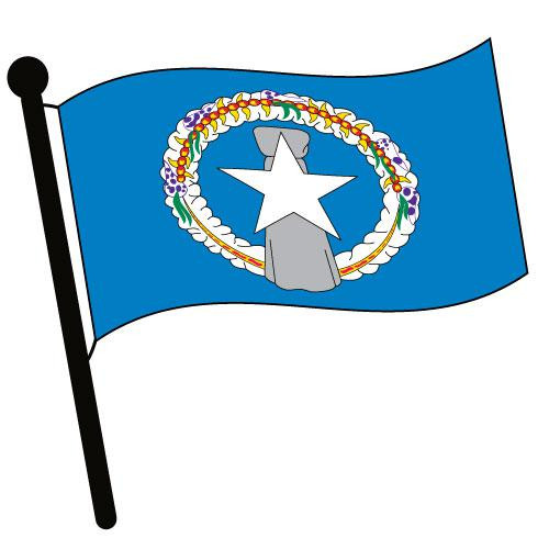 Northern Marianas Waving Flag Clip Art - Downloadable Image