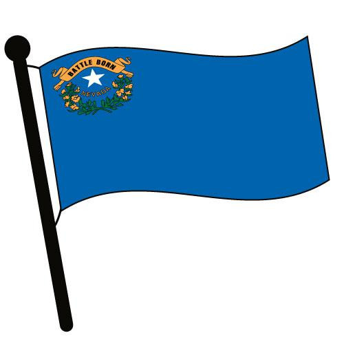 Nevada Waving Flag Clip Art - Downloadable Image
