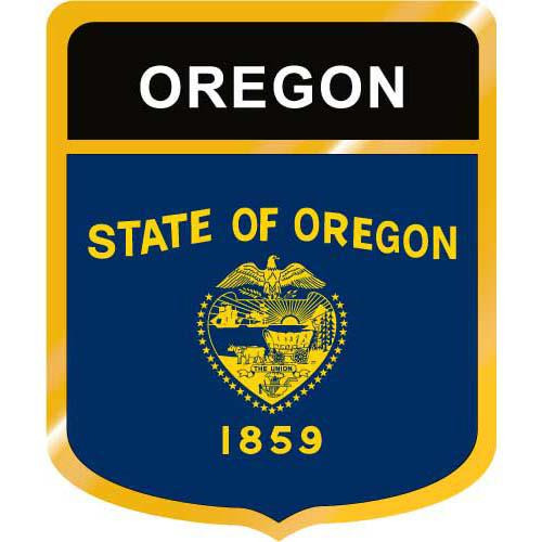 Oregon Flag Crest Clip Art - Downloadable Image