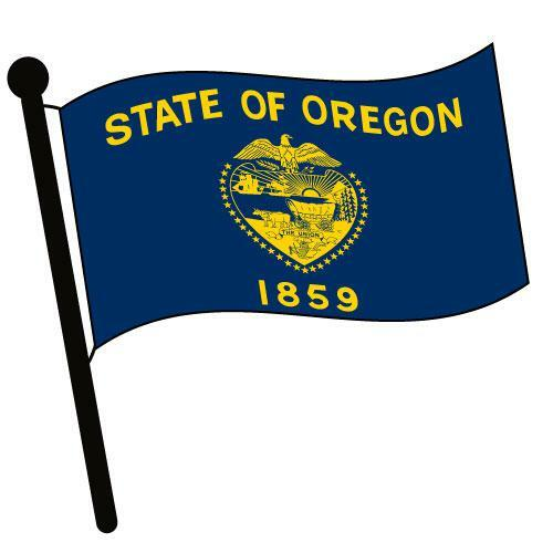 Oregon Waving Flag Clip Art - Downloadable Image