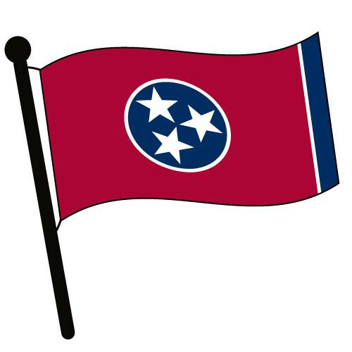 Tennessee Waving Flag Clip Art - Downloadable Image
