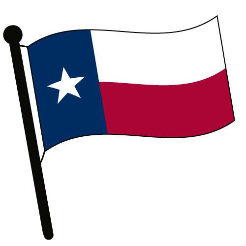 Texas Waving Flag Clip Art - Downloadable Image
