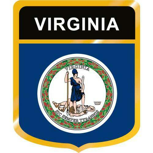Virginia Flag Crest Clip Art - Downloadable Image