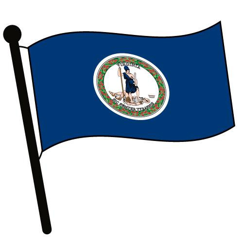 Virginia Waving Flag Clip Art - Downloadable Image