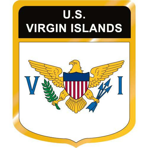 U.S. Virgin Islands Flag Crest Clip Art - Downloadable Image