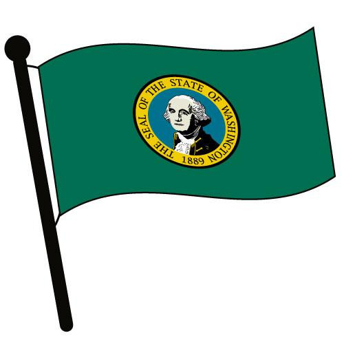 Washington Waving Flag Clip Art - Downloadable Image