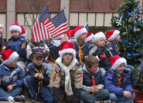 Cub Scouts on Float - Downloadable Image