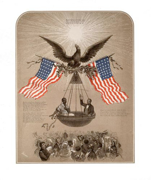 The American Declaration of Independence Illustrated Poster Art c1861 - Downloadable Image