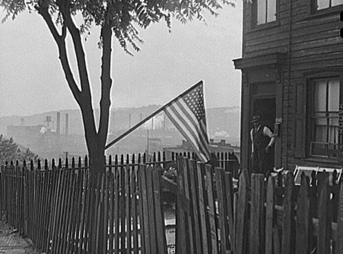 Flag Day in Pittsburgh, Pennsylvania, June 1941. - Downloadable Image