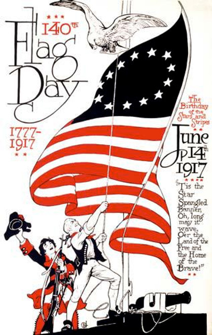 140th Flag Day 1777 - 1917 Poster Art - Downloadable Image