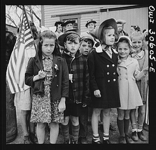 FSA Children with American Flags - Downloadable Image