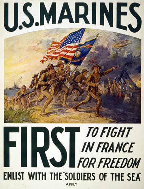 Marines: First to Fight (WW I Poster) - Downloadable Image