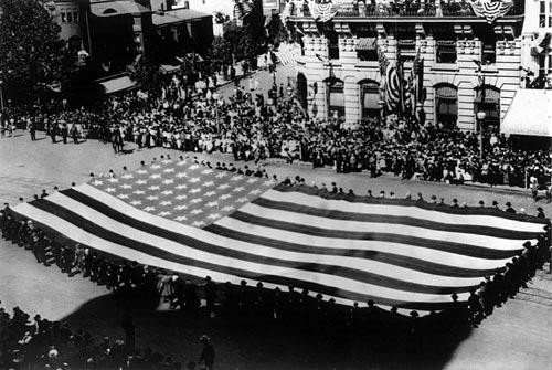 Huge American Flag in G. A. R. Parade - Downloadable Image