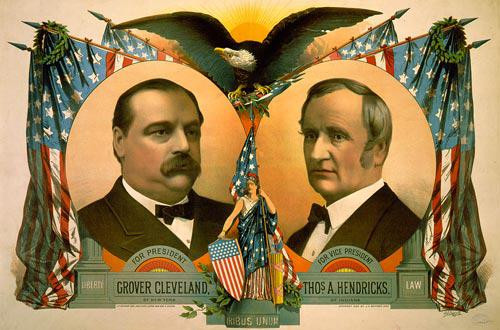 Grover Cleveland and Thomas A. Hendricks - Downloadable Image