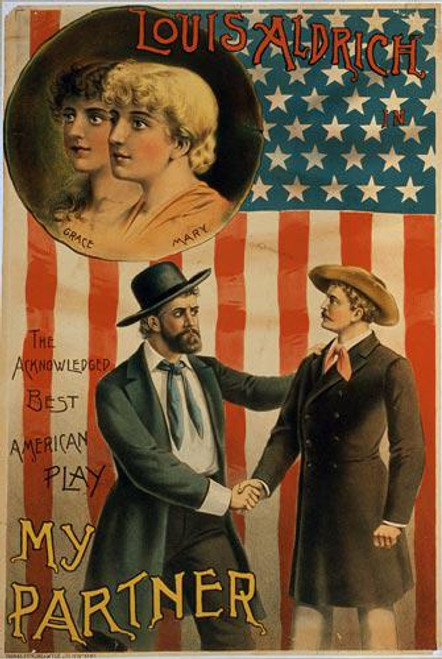 """Louis Aldrich in """"My Partner"""" a Theatrical Play - Downloadable Image"""