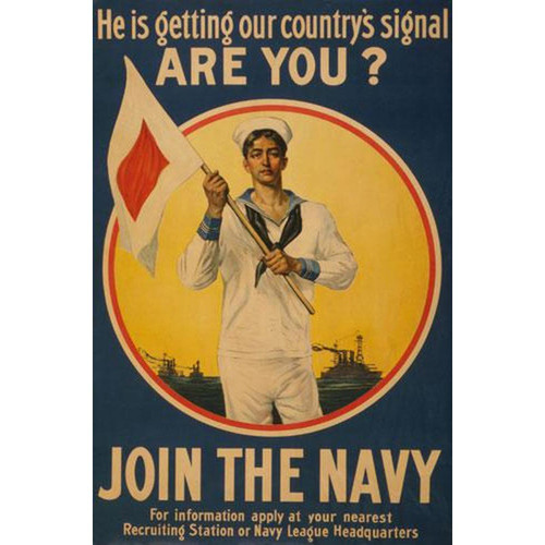Join the Navy (WW I Poster) - Downloadable Image