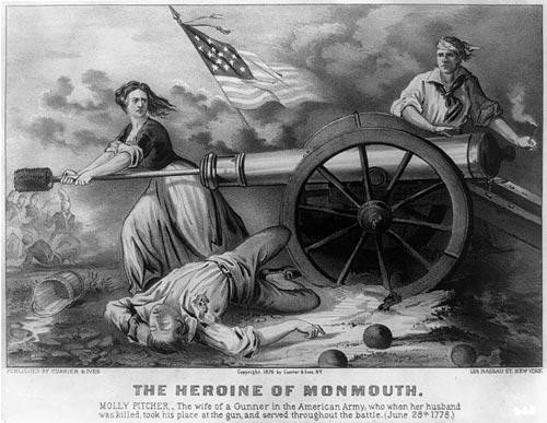 The Heroine on Monmouth. Molly Pitcher ... June 28, 1778 - Downloadable Image