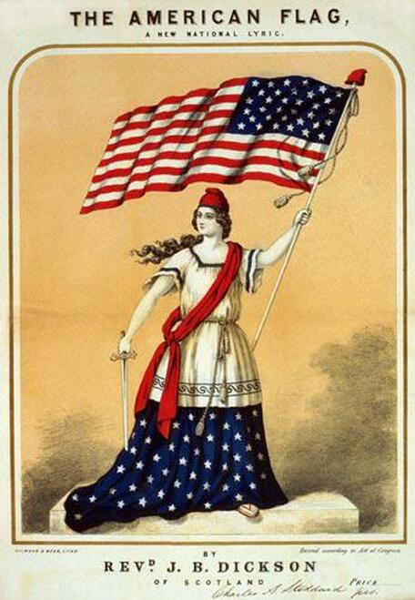 The American Flag, A New National Lyric - Downloadable Image