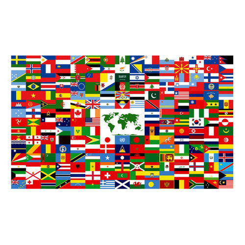 The World Flag 3ft x 5ft Nylon