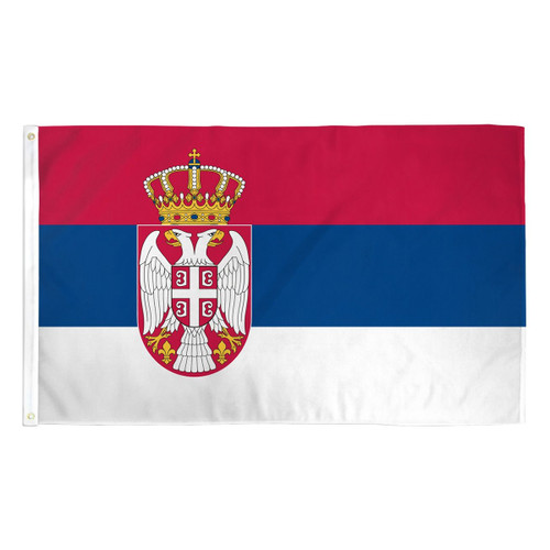 Serbia Flag 3ft x 5ft Printed Polyester