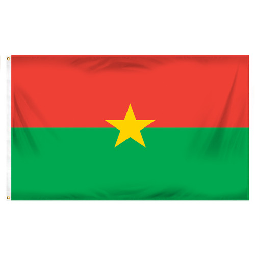 Burkina Flag 3ft x 5ft Printed Polyester