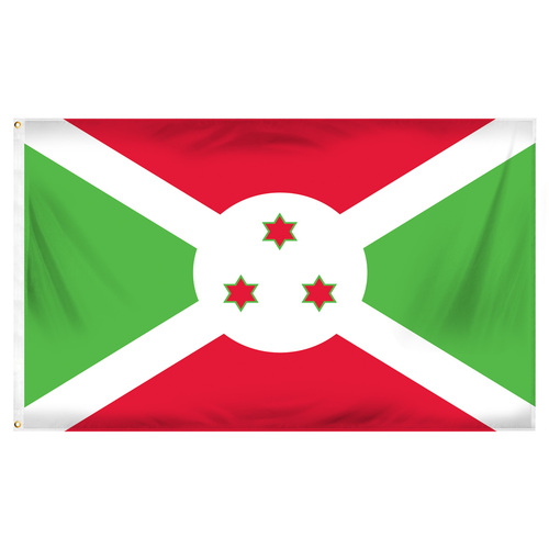 Burundi Flag 3ft x 5ft Printed Polyester