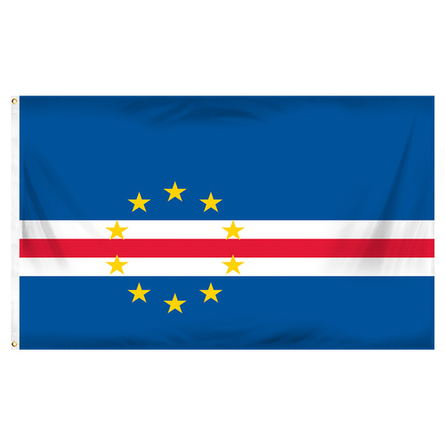 Cape Verde Flag 3ft x 5ft Printed Polyester
