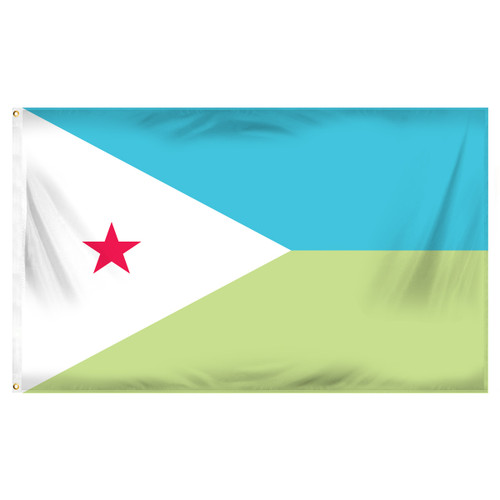 Djibouti Flag 3ft x 5ft Printed Polyester