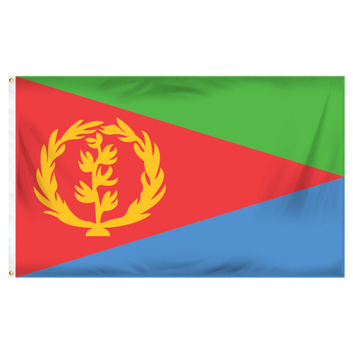 Eritrea Flag 3ft x 5ft Printed Polyester