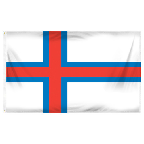 Faroe Islands Flag 3ft x 5ft Printed Polyester
