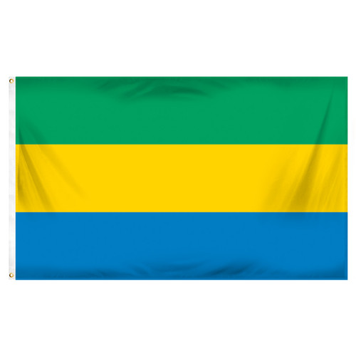 Gabon Flag 3ft x 5ft Printed Polyester