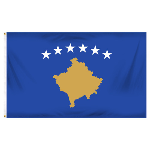 Kosovo Flag 3ft x 5ft Printed Polyester