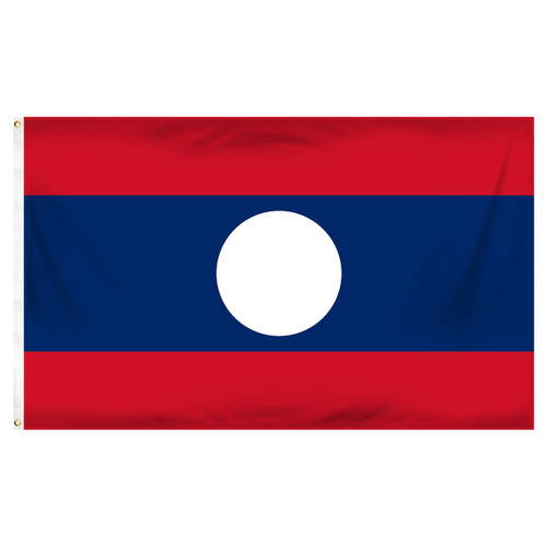 Laos Flag 3ft x 5ft Printed Polyester