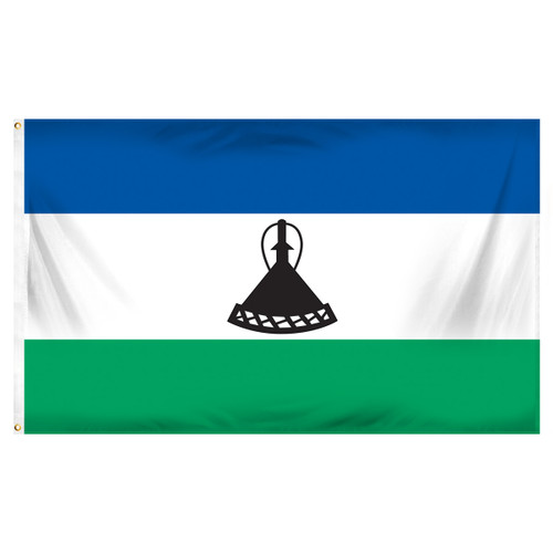 Lesotho Flag 3ft x 5ft Printed Polyester