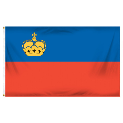 Liechtenstein Flag 3ft x 5ft Printed Polyester