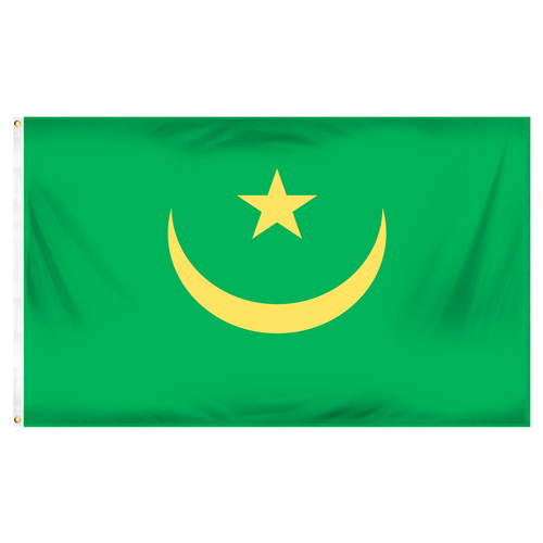 Mauritania Flag 3ft x 5ft Printed Polyester