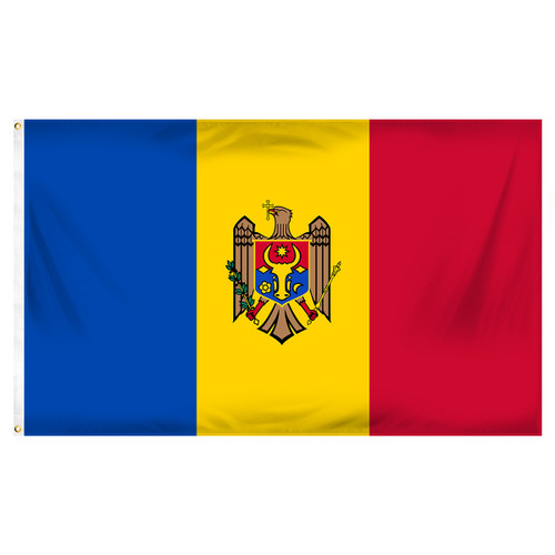 Moldova Flag 3ft x 5ft Printed Polyester
