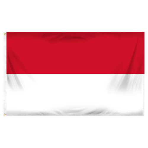 Monaco Flag 3ft x 5ft Printed Polyester
