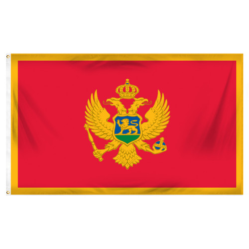 Montenegro Flag 3ft x 5ft Printed Polyester