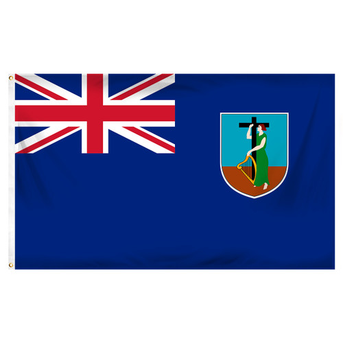 Montserrat Flag 3ft x 5ft Printed Polyester