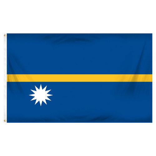 Nauru Flag 3ft x 5ft Printed Polyester