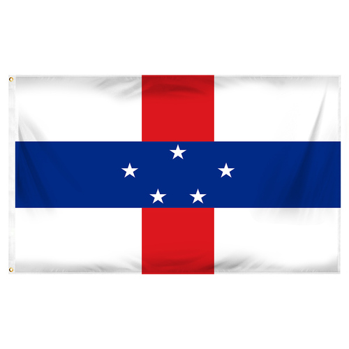 Netherlands Antilles Flag 3ft x 5ft Printed Polyester