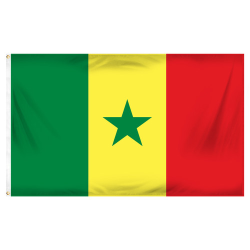 Senegal Flag 3ft x 5ft Printed Polyester