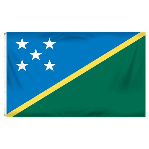 Solomon Islands Flag 3ft x 5ft Printed Polyester