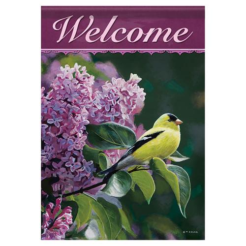 Bird Banner Flag - Golden Song