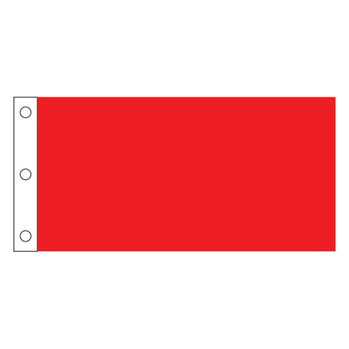 """Solid Color Nylon Golf Flags - 14"""" x 20"""" With Grommets"""
