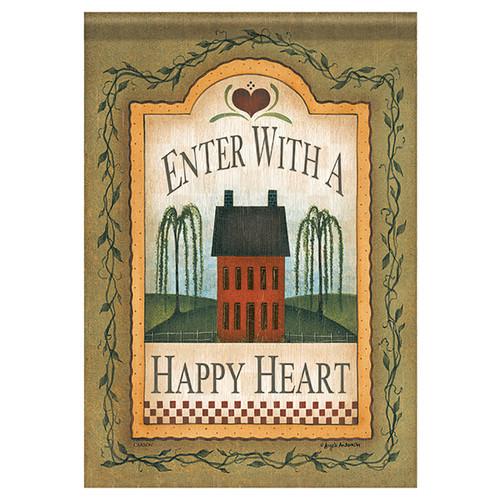 Everyday Banner Flag - Happy Heart